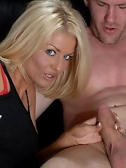 Gorgeous blonde bombshell Tia Layne arrives home from work early to catch her sleezy boyfriend wanking over girls on webcam. Tia, disgusted by this st